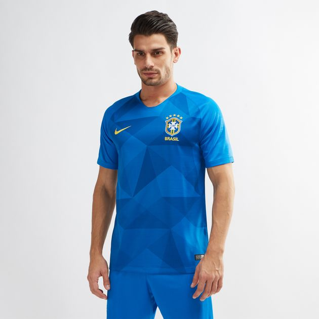 6cd1671118ac Shop Blue Nike Brazil Away Stadium Football Jersey – 2018 for Mens ...