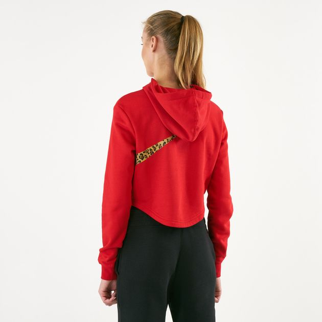 cf7ac1fbb3 Nike Women s Sportswear Cropped Animal Hoodie
