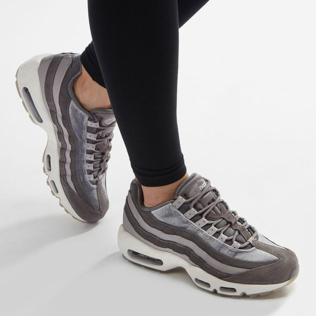 get cheap da5b1 e1167 Shop Grey Nike Air Max 95 LX Velvet Shoe for Womens by Nike ...