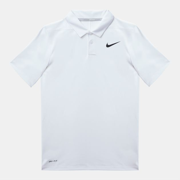 1d53b981 Shop White Nike Kids' Dry Victory Polo T-Shirt for Kids by Nike Golf ...