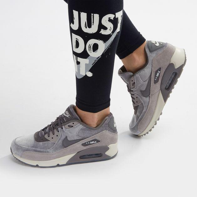 493fb51988b80 Shop Grey Nike Air Max 90 LX Velvet Shoe for Womens by Nike | SSS