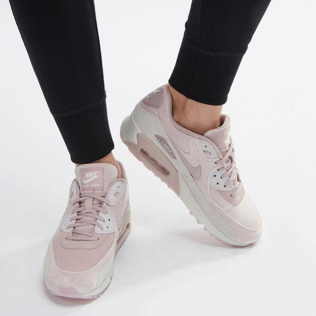 9643e6ff8b82c Shop Pink Nike Air Max 90 LX Velvet Shoe for Womens by Nike | SSS
