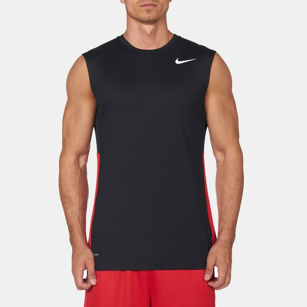 48b1de071 Shop Black Nike Crossover Sleeveless T-Shirt for Mens by Nike - 7 | SSS