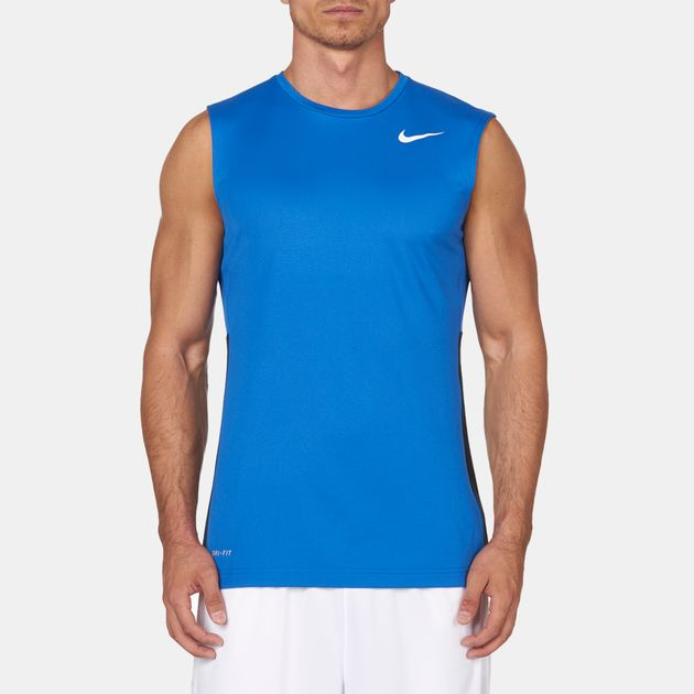aed4f8498 Shop Blue Nike Crossover Sleeveless T-Shirt for Mens by Nike | SSS