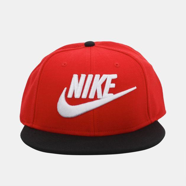f6df562a6aa6f Shop Red Nike True 2 Futura Snapback Cap for Mens by Nike