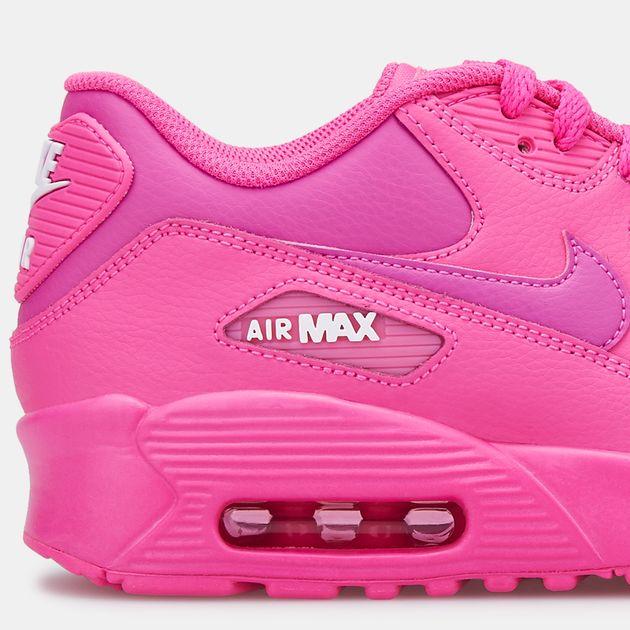 half off 43223 3cabc Nike Kids' Air Max 90 Leather Shoe (Older Kids)