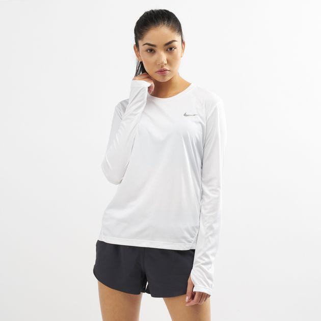 332d61e5e Nike Women's Dri-FIT Miler Long Sleeve Top | T-Shirts | Tops ...