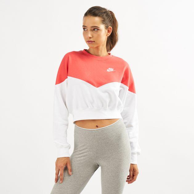 9d569c5d Nike Women's NSW Heritage Fleece Crew Sweatshirt | Sweatshirts ...