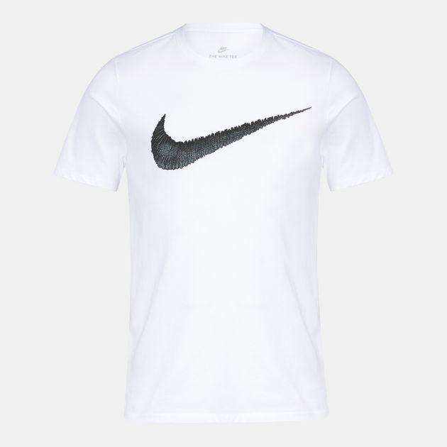 003bbaca Shop White Nike Hangtag Swoosh T-Shirt for Mens by Nike | SSS