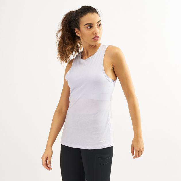 b62f3589f1 Nike Women's Dri-FIT Open-Back Training Tank Top