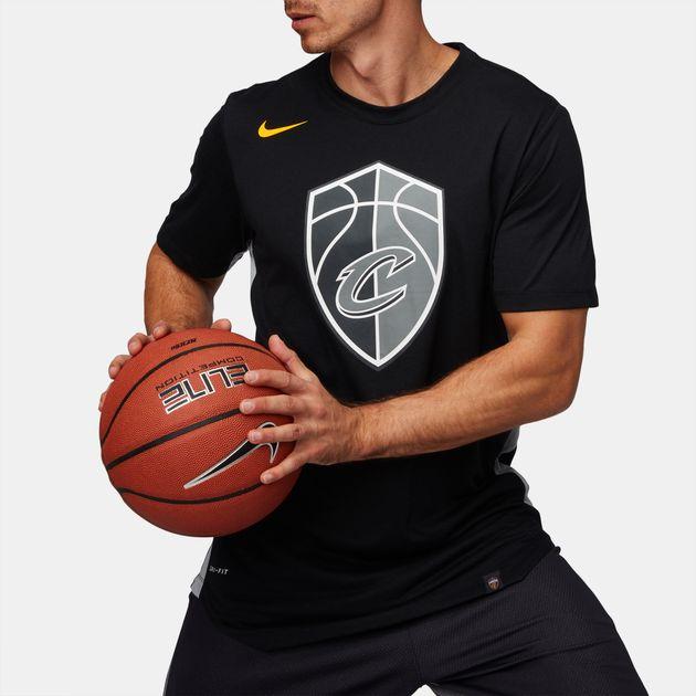 promo code e494d 50bc9 Shop Black Nike NBA Cleveland Cavaliers Dry City Edition T ...
