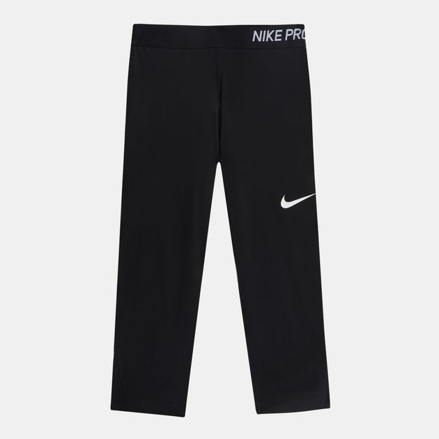 3aa7973a2bb Shop Black Nike Kids  Pro Capri Leggings (Older Girls) for Kids by ...
