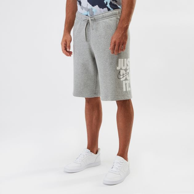 Shop Grey Nike Sportswear HBR Fleece Shorts  ac97ac544161