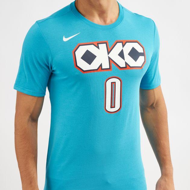 8bd1790a0d6 Nike NBA Oklahoma City Thunder Rusell Westbrook Dri-FIT City Edition T-Shirt ,