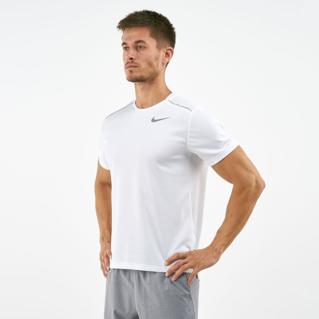 56110e47ec605 Nike Men's Dri-FIT Miler T-Shirt | T-Shirts | Tops | Clothing | Mens ...