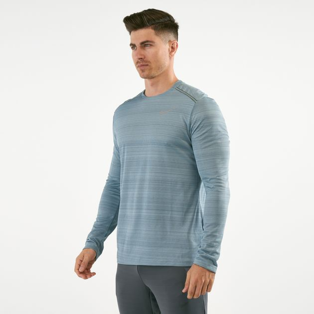 cd69352cbcb98 Nike Men's Dri-FIT Miler Long Sleeve Top | T-Shirts | Tops ...