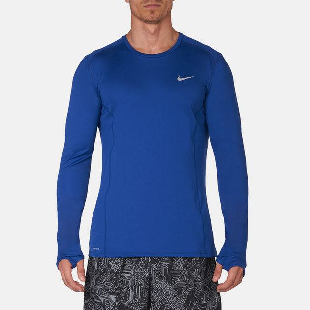 744710-687 Nike Mens Miler Dri-Fit Running Shirt