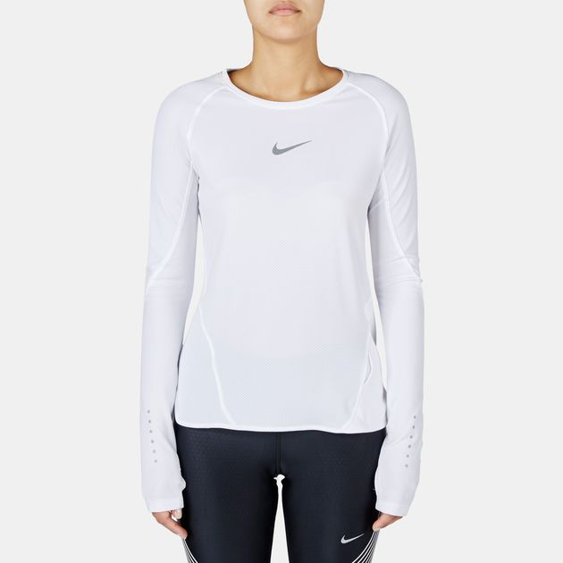 Nike AeroReact Long Sleeve Running T-Shirt