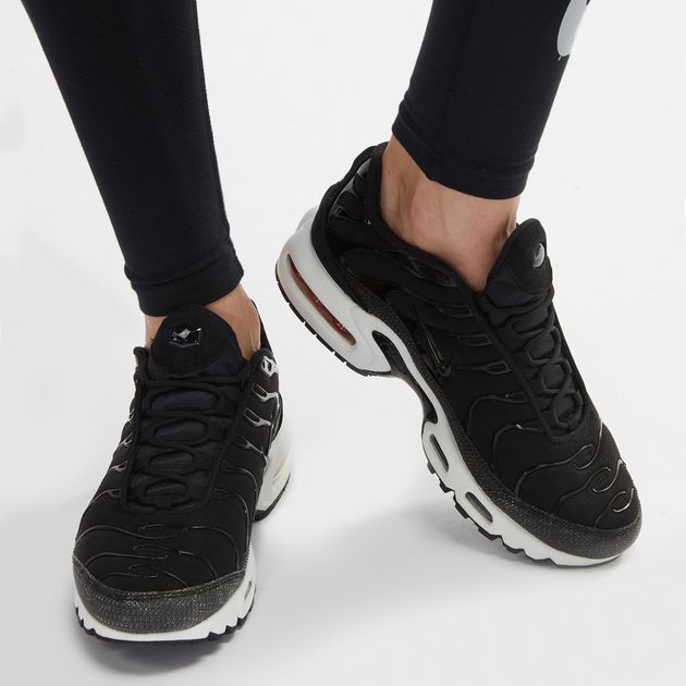 the latest 357b0 d22b5 Shop Black Nike Air Max Plus TN Premium Shoe for Womens by ...