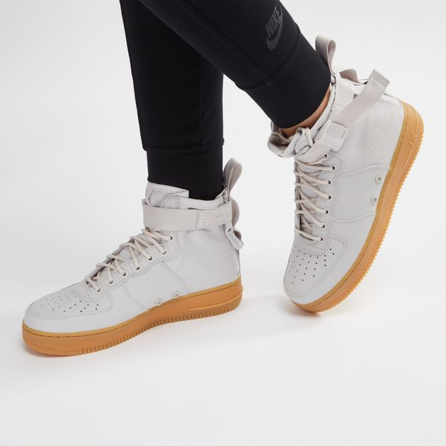buy popular 36fe0 b3c4e Shop Grey Nike SF Air Force 1 Mid Boot for Womens by Nike | SSS