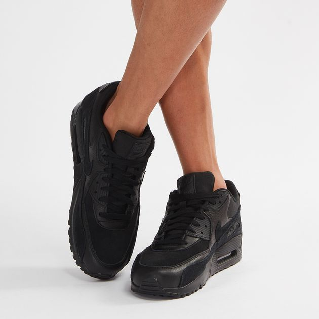 new concept 05ba6 8a248 Shop Black Nike Air Max 90 Premium Shoe for Mens by Nike - 6 ...