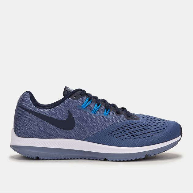 size 40 e616b 65d44 Shop Blue Nike Zoom Winflo 4 Running Shoe for Mens by Nike ...