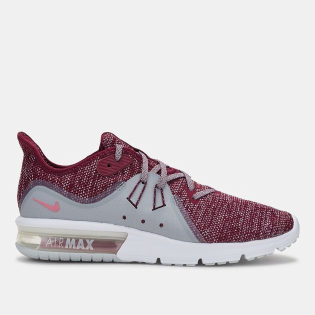 half off e00ee d02fc Shop Blue Nike Air Max Sequent 3 Running Shoe for Womens by ...