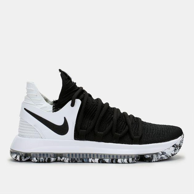 4543ae2bd تسوق حذاء كرة السلة زوم كي دي 10 من نايك للرجال لون Black   سن أند ...