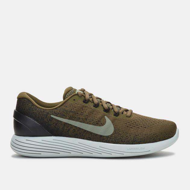ce9ca92c36eb5 Shop Green Nike LunarGlide 9 Running Shoe for Mens by Nike
