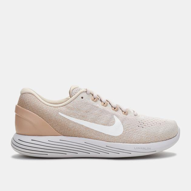 7650df1f12a4f Shop Beige Nike LunarGlide 9 Running Shoe for Womens by Nike