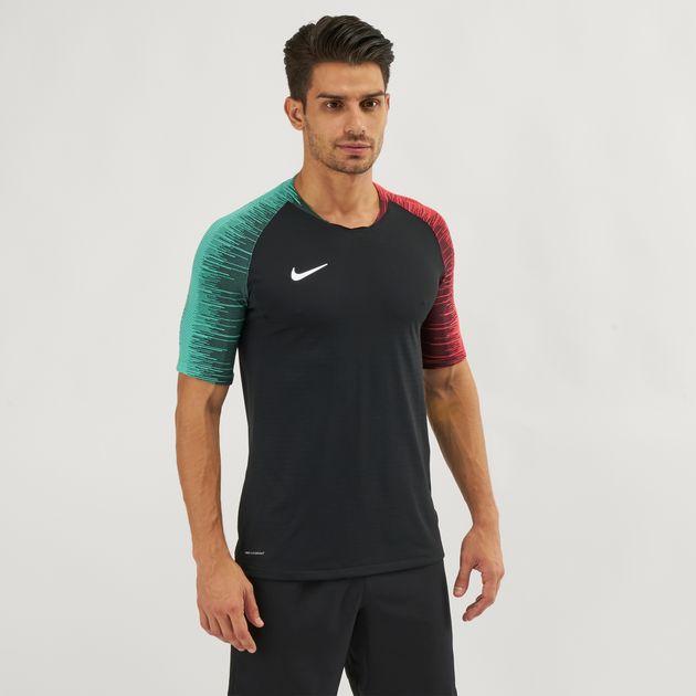 8af7c48919ac5 Shop Black Nike VaporKnit Strike Football T-Shirt