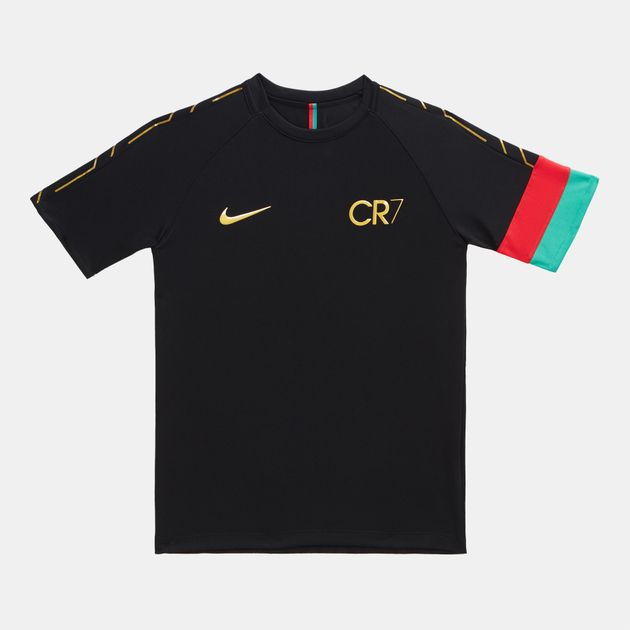 4a6b3a2998 Shop Black Nike Kids' Dri-FIT CR7 Academy Football Top for Kids by ...