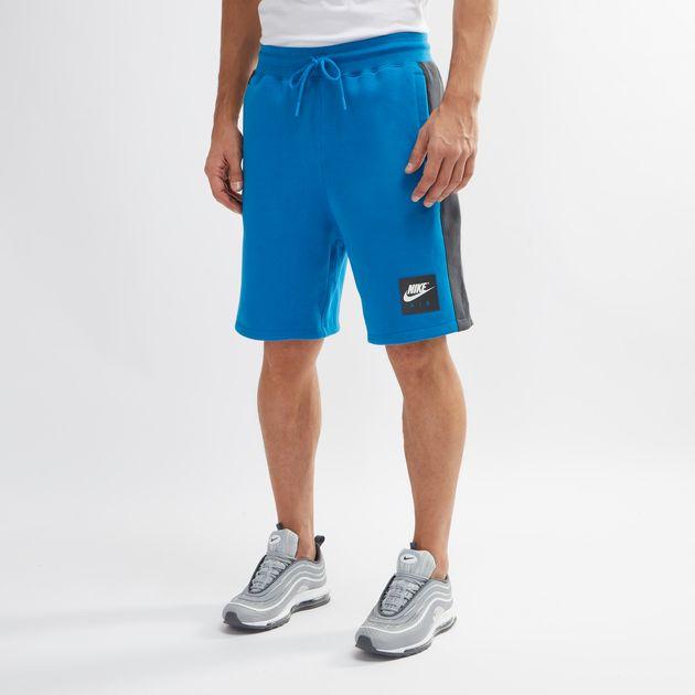 f7ef17e1619f Shop Blue Nike Air Fleece Shorts for Mens by Nike