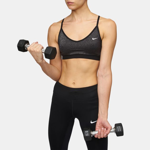 337c9d769a50f Shop Black Nike Indy Sparkle Sports Bra for Womens by Nike