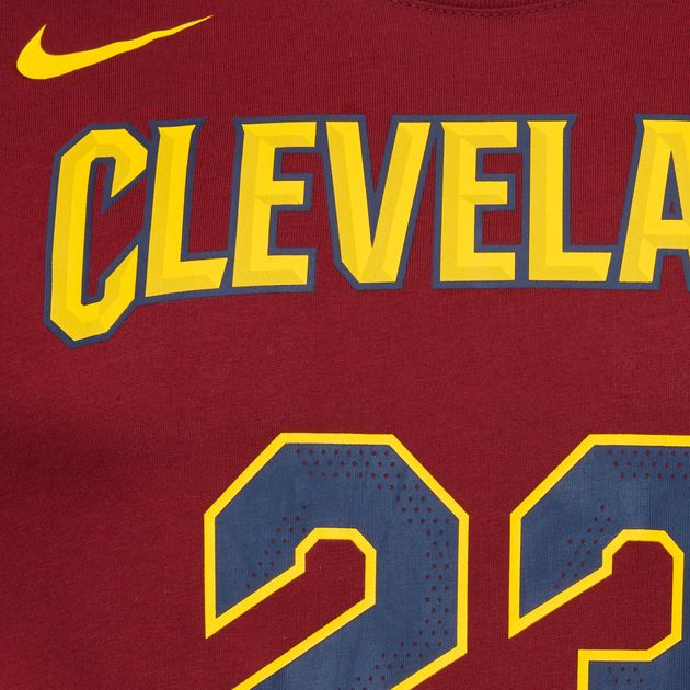 13c8bf0b4c35 Shop Red Nike NBA Cleveland Cavaliers LeBron James Dry T-Shirt for ...