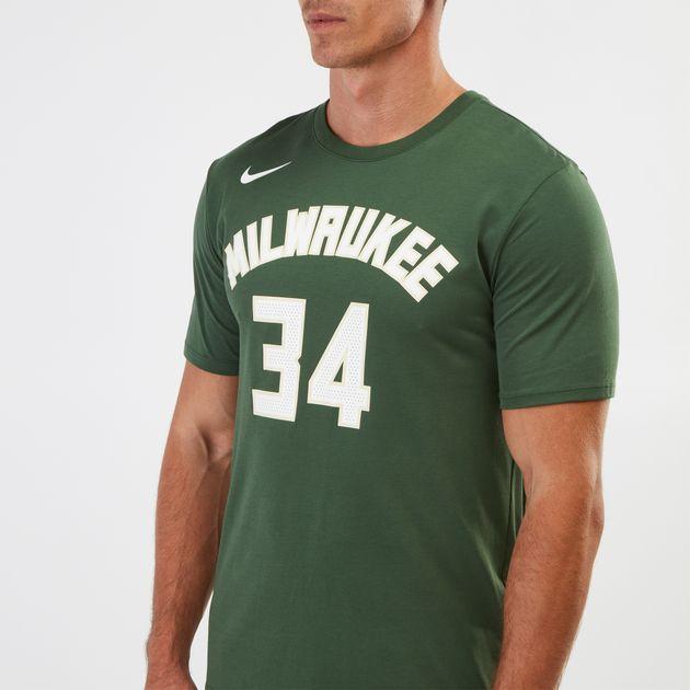 best service d3020 2fa9e Nike Dry NBA Milwaukee Bucks Giannis Antetokounmpo T-Shirt ...