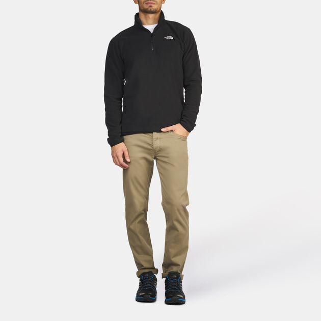 c998cc9d5 Shop Black The North Face TKA 100 Glacier 1/4 Zip Jacket for Mens by ...
