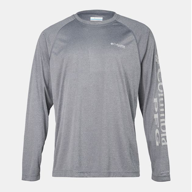a4b905cfb54 Shop Red Columbia PFG Terminal Tackle™ Heather Long Sleeve T-Shirt ...