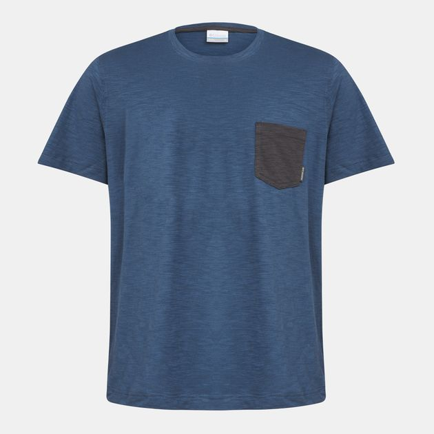 06b21c13fa9 Shop Grey Columbia Lookout Point™ Pocket T-Shirt for Mens by ...
