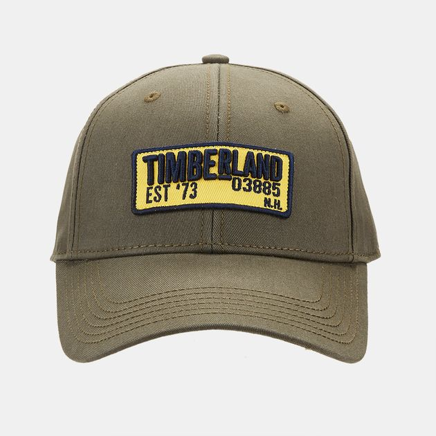 332f8a8d442 Timberland Cotton Twill Embroidered Patch Cap - Green