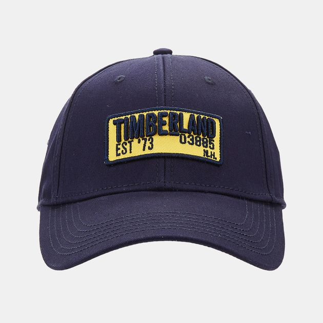 4ddd08f766b Shop Blue Timberland Cotton Twill Embroidered Patch Cap for Mens by ...