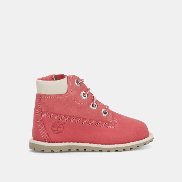 Shop Pink Timberland Kids' Pokey Pine Side Zip Chukka Boots