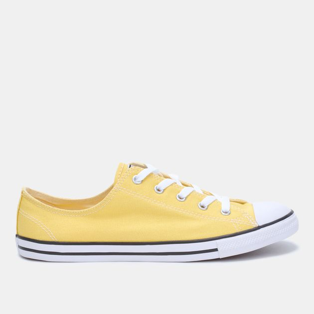 Shop Yellow Converse Chuck Taylor All Star Dainty Shoe for Womens by ... fd031e745
