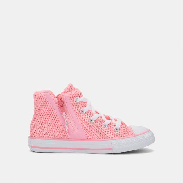 7e43111cf440 Shop Pink Converse Kids  Chuck Taylor All Star Sport Zip Crochet ...