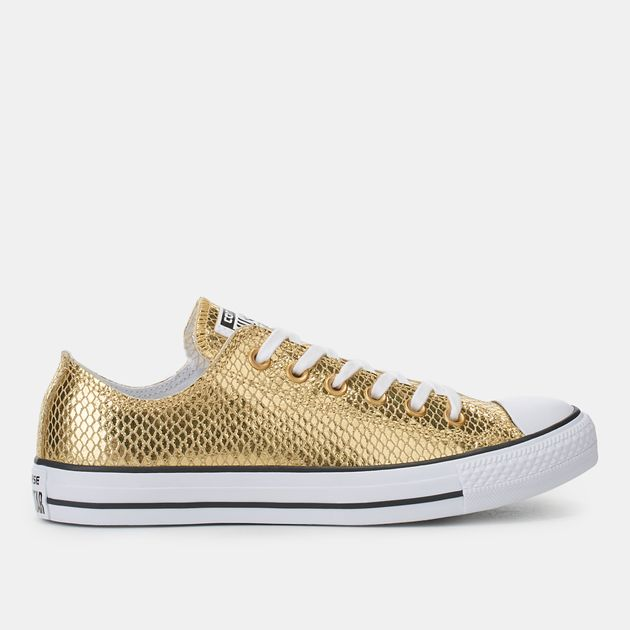 a7ebecbed4b Shop Gold Converse Chuck Taylor All Star Metallic Snake Print Shoe ...