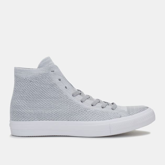 74d083c68b6 Shop Grey Converse Chuck Taylor All Star X Nike Flyknit High Top ...
