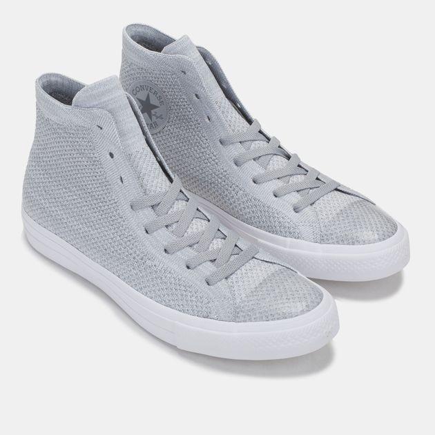 Shop Grey Converse Chuck Taylor All Star X Nike Flyknit High Top ... 45c53f58f