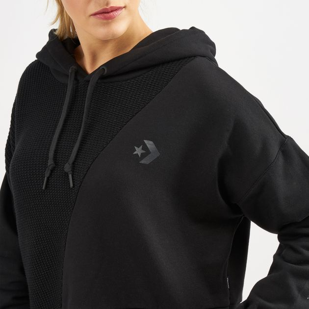 b5dd8f585ef6a Converse Sweater Knit Cropped Hoodie | Hoodies | Hoodies and ...