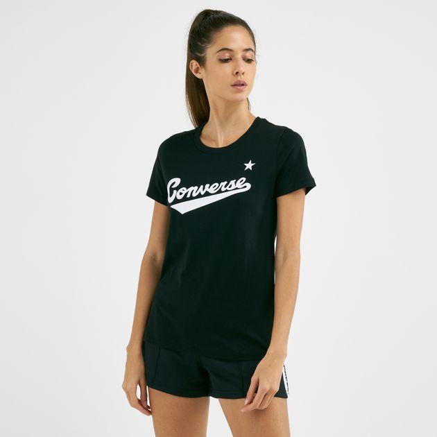 factory outlet 2018 sneakers official photos Converse Women's Center Front Logo T-Shirt