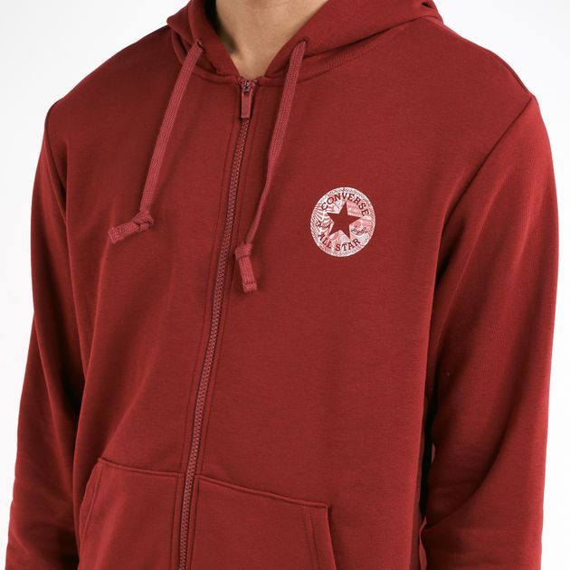 8693d69a5 Converse Men's Chuck Patch Graphic Full Zip Hoodie